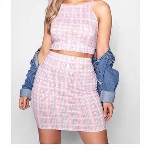 2 piece set. Halter top and skirt